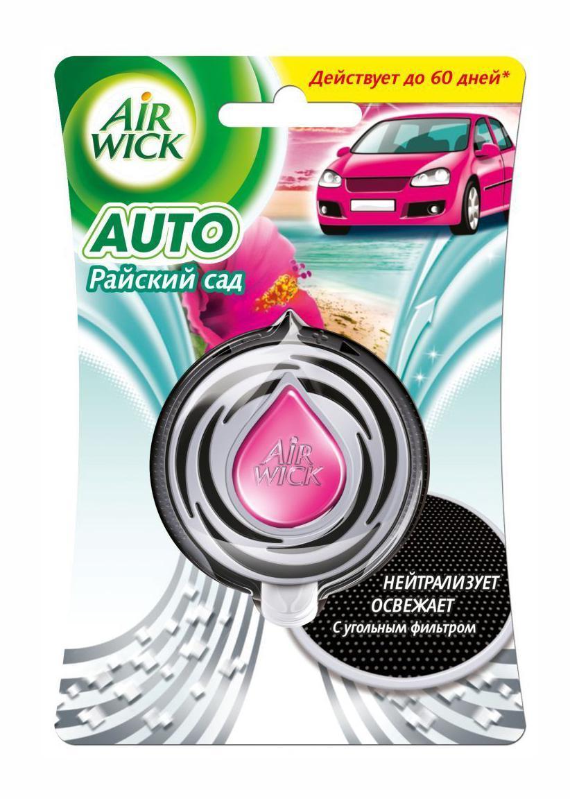 Освежитель воздуха для автомобиля AirWick Райский сад, 3 мл9414