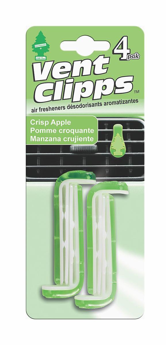 Ароматизатор Car-Freshner Vent Clipps аромат Crisp Apple (Хрустящее яблоко)ALLIGATOR SP-75RSCar-Freshner Vent Clipps устанавливается в дефлектор вентиляции автомобиля. Уникален по эффективности действия, насыщенности и стойкости запаха. В упаковке 4 штуки.