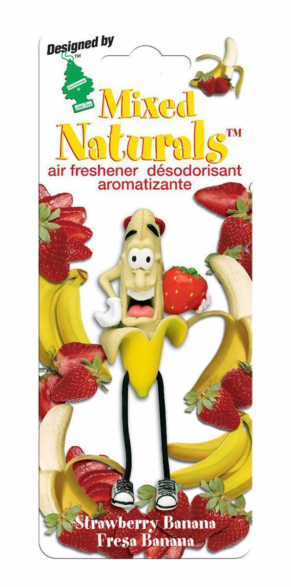 Ароматизатор Car-Freshner Mixed Naturals Клубника с бананомCTK-51802-24Оригинальный ароматизатор Car-Freshner Mixed Naturals, выполненный в виде забавной фигурки, эффективно нейтрализует посторонние запахи и наполняет воздух яркими насыщенными ароматами. Подвесьте ароматизатор за шнурок в любом удобном месте - в салоне автомобиля, дома или в офисе - и получайте удовольствие! Характеристики: Размер ароматизатора: 8 см x 4 см x 4 см Изготовитель: Китай Артикул: CTK-51802