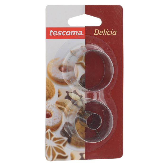 Набор форм для выпечки Tescoma Delicia, 2 предмета94672Набор Tescoma Delicia включает 2 формы для выпечки, выполненные из нержавеющей стали. Изделия имеют круглую форму и идеально подходят для приготовления печенья или пирожных. Одна формочка предназначена для приготовления печенья с начинкой. Оригинальный набор позволит приготовить выпечку по вашему любимому рецепту, но в оригинальном оформлении, которое придется по душе всей семье. Не мыть в посудомоечной машине.