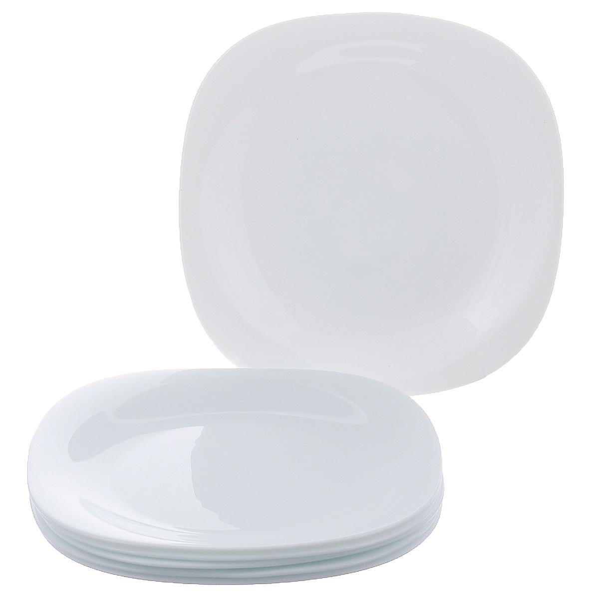 Набор обеденных тарелок Bormioli Rocco Parma, 27 х 27 см, 6 шт498860F27321990Набор Bormioli Rocco Parma состоит из 6 обеденных тарелок квадратной формы, изготовленных из упрочненного стекла с покрытием белого цвета. Набор Bormioli Rocco Parma красиво оформит сервировку стола и станет прекрасным дополнением к коллекции вашей посуды.