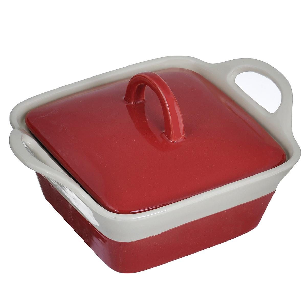 Кастрюля Mayer & Boch с крышкой, цвет: красный, бежевый, 680 мл21807Кастрюля Mayer & Boch изготовленная из жаропрочной керамики, подходит для любого вида пищи. Элегантный дизайн идеально подходит для современного дома. В комплект входит крышка из керамики. Изделия из керамики идеально подходят как для приготовления пищи, так и для подачи на стол. Материал не содержит свинца и кадмия. С такой кастрюлей вы всегда сможете порадовать своих близких оригинальным блюдом. Кастрюлю можно использовать на газовой, электрической плите и в микроволновой печи. Можно мыть в посудомоечной машине. Размер кастрюли: 15,5 см х 15,5 см. Ширина кастрюли (с учетом ручек): 22 см. Высота стенок: 7 см.