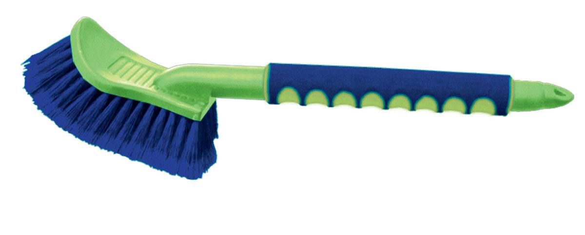 Щетка для мытья Sapfire, цвет: зеленый, синий, 43 см0534-SFЩетка Sapfire имеет особо мягкую распушенную щетину для бережной мойки. Щетина выполнена из высокоупругого полимера для длительной эксплуатации. Прочный корпус, алюминиевая рукоятка с мягким эргономичным нескользящим покрытием. Длина щетины: 5 см. Длина щетки: 43 см.