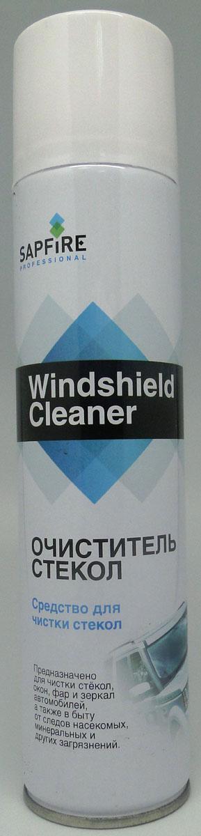 Очиститель стекол Sapfire, аэрозольный, 300 мл1816-SQНОчиститель стекол Sapfire не оставляет бликов, разводов, масляных пятен, следов биологических загрязнений. Нейтрален к лакокрасочным покрытиям, резиновым и пластиковым деталям, увеличивает срок службы щеток, предохраняя их от абразивного износа. Состав: пропан-бутан, денатурат, вода, функциональные добавки, отдушка.