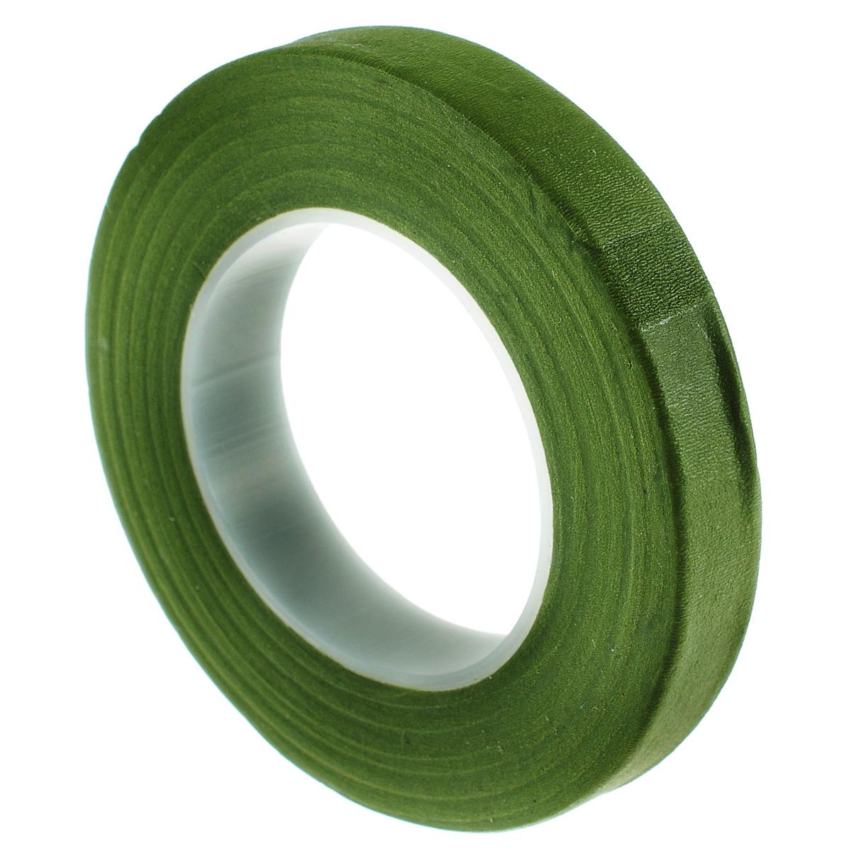 Лента флористическая Hobby Time, цвет: зеленый, ширина 12,7 мм, длина 28 м7705243Флористическая лента Hobby Time - это тонкая эластичная лента в катушке с легким клеящим эффектом. Она липкая, тонкая, легкая, водонепроницаемая, хорошо растягивается. Лента бывает широкой и узкой. Широкая лента в основном используется для крепления к сосуду флористической губки, узкой лентой также иногда перекрещивается отверстие широкогорлового сосуда для закрепления растений. Флористическая лента может использоваться в квиллинге при изготовлении цветов на проволоке, конфетных деревьев, украшений из бисера, различного декора. В основном лента применяется для декорирования проволоки в букетах в соответствии с цветом букета. При намотке флористическую ленту необходимо немного натягивать, чтобы она лучше прилипала к стеблю цветка. Особенности флористической ленты: - Легко разглаживается и плотно прилегает к поверхности, - Принимает любую форму, - Позволяет продлить свежесть цветка, поэтому необходима при создании свадебных букетов и других...