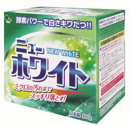 Стиральный порошок Mitsuei New White, 900 г060601Порошок идеально подходит для цветного белья. Смягчающие компоненты в составе порошка обеспечат Вашим вещам невероятную мягкость. Ферменты в составе средства, расщепляют любые сложные загрязнения, даже микрозагрязнения, и они с легкостью вымываются из волокон ткани