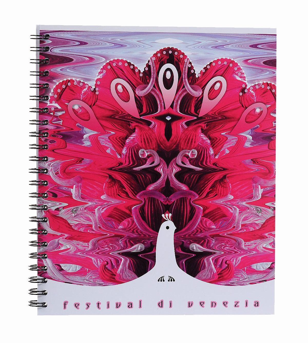 Тетрадь на спирали, 80л Муранское стекло, УФ-лак, розовый37626 розовыйтетрадь на спирали,80л Муранское стекло, УФ-лак, розовый