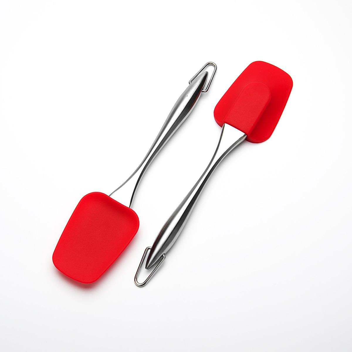 Лопатка кулинарная Mayer & Boch, цвет: красный, длина 26 см23160Кулинарная лопатка Mayer & Boch станет вашим незаменимым помощником на кухне. Рабочая часть лопатки выполнена из силикона, ручка изготовлена из прочной нержавеющей стали. Силиконовая часть лопатки выдерживает температуру до +230°С. Силикон абсолютно безвреден для здоровья, не впитывает запахи, не оставляет пятен, легко моется. Кулинарная лопатка Mayer & Boch - практичный и необходимый подарок любой хозяйке! Можно мыть в посудомоечной машине. Длина лопатки: 26 см. Размер рабочей части: 6,2 см х 8,7 см.