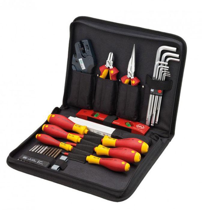 Набор инструментов для обслуживания распределительных шкафов Professional electric VDE PZ, 31 ед Wiha 33149  бокорезы professional electric vde 180 мм wiha 26744