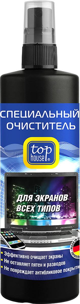 Очиститель для экранов всех типов Top House, 250 мл20475Очиститель для экранов всех типов Top House предназначен для качественной очистки и повседневного ухода за TFT и плазменными панелями, ЖК-телевизорами, LCD-мониторами, проекционными телевизорами, ноутбуками, планшетами, смартфонами, цифровыми фоторамками. Специально разработан в Германии по современной технологии и с учетом рекомендаций крупнейших производителей компьютерной техники, аудио-видео техники и оргтехники. - Идеальное средство для очистки ВСЕХ типов экранов- Легко и быстро очищает, эффективно удаляет любые загрязнения (пыль, следы от пальцев, никотиновую пленки, пятна жира и др.) - Не повреждает защитное покрытие экранов- Обладает длительным антистатическим эффектом- Не оставляет разводов и пятенСостав: менее 5% неионные ПАВ, растворитель (бутилгликоль), антистатик, ароматизаторы, обессоленная вода, консерванты (бензизотиазолинон, метилизотиазолинон). Товар сертифицирован.