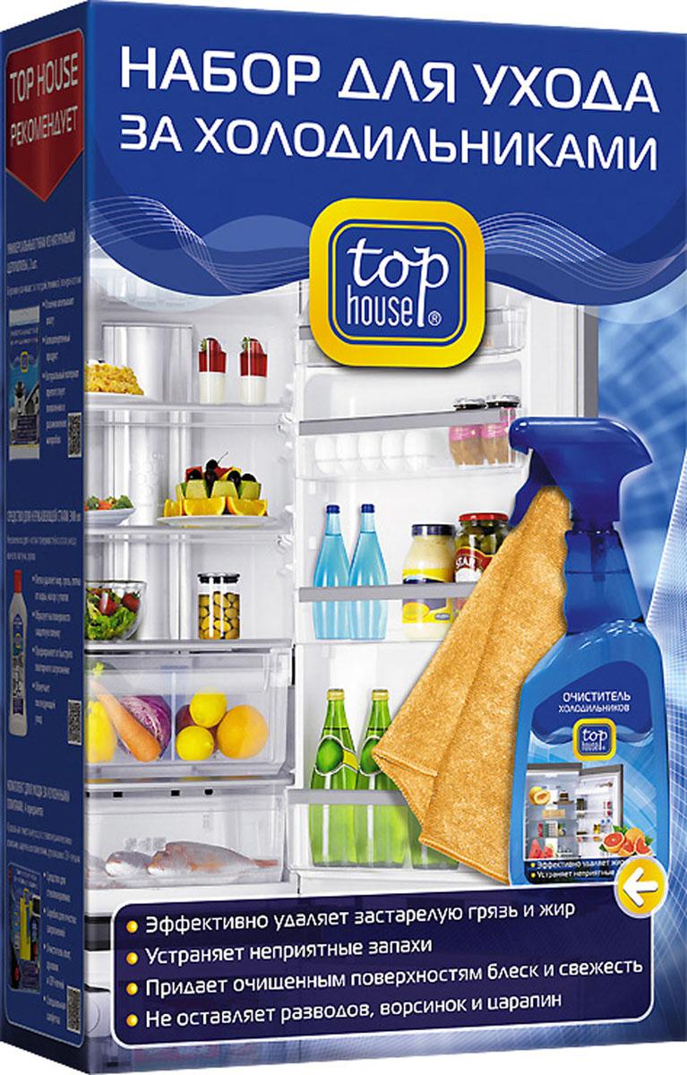 Набор для ухода за холодильниками Top House, 2 предмета391640Набор для ухода за холодильниками Top House состоит из очистителя для холодильников и салфетки. Специально разработан по современной технологии с учетом рекомендаций ведущих производителей бытовой техники. ОЧИСТИТЕЛЬ ХОЛОДИЛЬНИКОВ: - Быстро и эффективно удаляет любые виды загрязнений как внутри, так и снаружи холодильников, морозильных камер, термоконтейнеров и автохолодильников. - Ухаживает за резиновыми уплотнителями. - Убивает бактерии, предотвращая их распространение, вызывающее порчу продуктов. - Устраняет неприятные запахи. - Придает очищенным поверхностям блеск и свежесть. СПЕЦИАЛЬНАЯ САЛФЕТКА ДЛЯ УДАЛЕНИЯ ЖИРОВЫХ ЗАГРЯЗНЕНИЙ: - Изготовлена из материала последнего поколения Microfibers Technology. - Предназначена для очистки поверхностей и корпусов бытовой техники от загрязнений, известковых пятен от воды, капель жира, а также для удаления следов от пальцев. Обладает большой гигроскопичностью и ...