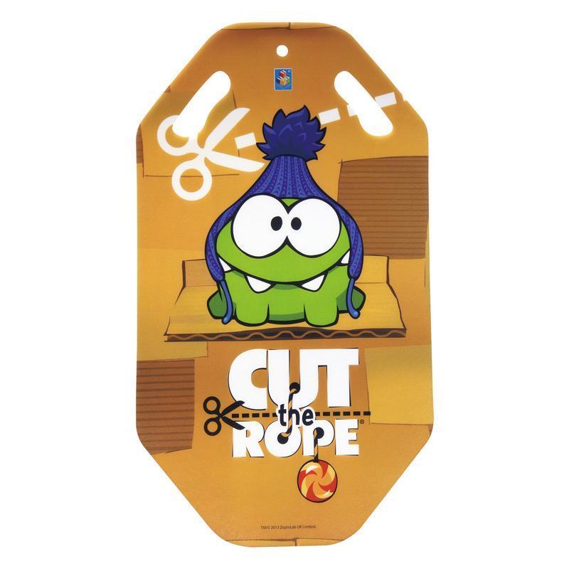 Ледянка 1toy Cut the Rope, длина 92 смТ56335Ледянка с красочным дизайном героев популярной игры Cut the Rope. Несмотря на то, что ледянка очень легкая и прочная, на ней можно кататься практически с любых горок. Изготовлена из прочного вспененного пластика. Прорези для рук позволят не упасть при спуске с крутых горок. Яркий рисунок будет долго держаться даже при интенсивном катании.