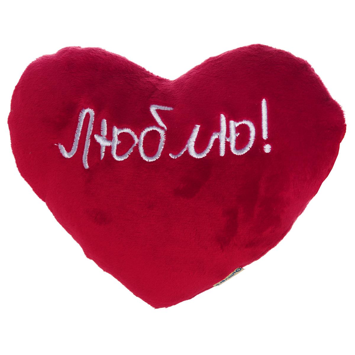 Мягкая игрушка Gulliver Сердце, цвет: красный, 20 см7-48689