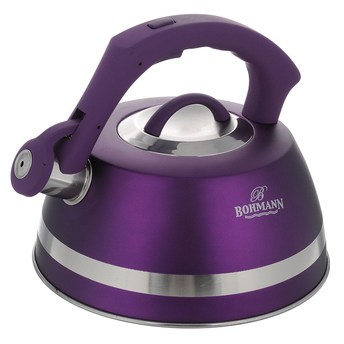 Чайник Bohmann со свистком, цвет: фиолетовый, 3,5 л. BH - 9967BH - 9967