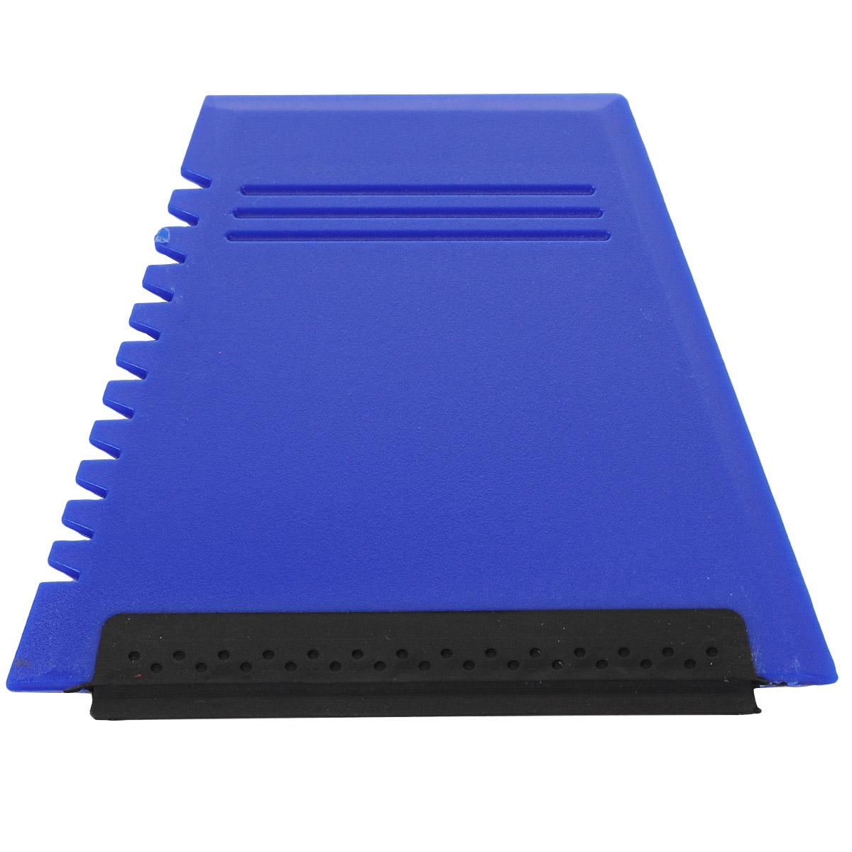 Скребок для уборки снега и льда Clingo, с водосгоном, цвет: синий, 12 x 11 см