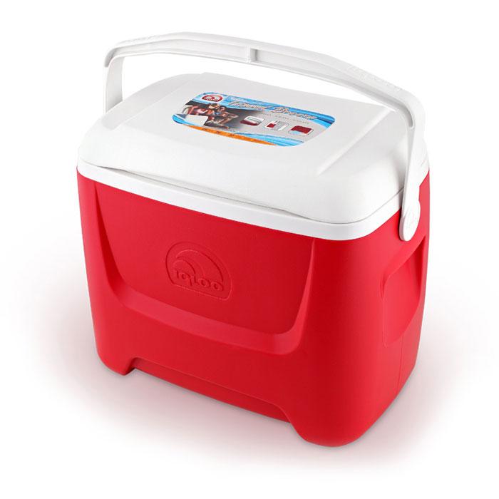 Изотермический контейнер Igloo Island Breeze, цвет: красный, 26 л44547Легкий и прочный изотермический контейнер Igloo Island Breeze, изготовленный из высококачественного пластика, предназначен для транспортировки и хранения продуктов и напитков. Корпус гладкий, эргономичного дизайна, ударопрочный. Поддержание внутреннего микроклимата обеспечивается за счет термоизоляционной прокладки из пены Ultra Therm, способной удерживать температуру внутри корпуса до 24 часов. Для поддержания температуры использовать с аккумуляторами холода. Контейнер имеет усиленную поворотную ручку с фиксацией и широко открывающуюся крышку для легкого доступа к продуктам. Крышка плотно и герметично закрывается. Такой контейнер можно взять с собой куда угодно: на отдых, пикник, на дачу, катание на лодке и т.д. Он имеет компактные размеры и не займет много места.
