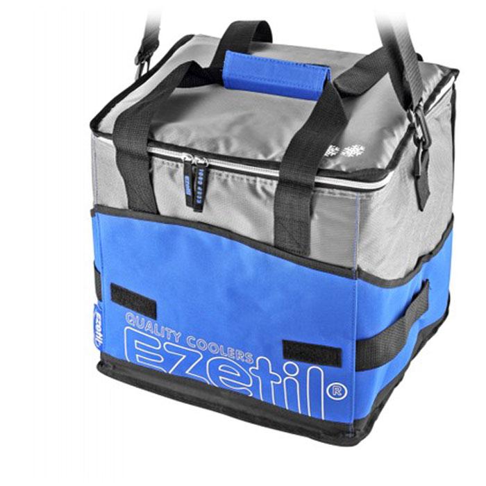 Сумка-холодильник Ezetil KC Extreme, цвет: синий, 28 л19201Сумка-холодильник Ezetil KC Extreme предназначена для транспортировки и хранения продуктов и напитков. Сумка изготовлена из высококачественного полиэстера, внутренняя поверхность отделана специальным термоизоляционным материалом PEVA толщиной 8 мм, безопасным для контакта с пищевыми продуктами. Внешняя светоотражающая ткань является дополнительным барьером, обеспечивающим надежное удержание холода внутри. Изделие произведено с использованием экологически безопасных и гигиеничных материалов, как внутри, так и снаружи, не содержащих в себе поливинилхлорид. 100% герметичность изотермической сумки обеспечивается современной технологией горячей спайки внутренних швов. Многослойная изоляция обеспечивает надежное удержание температуры помещенных в сумку продуктов при ее максимальном заполнении в течение нескольких часов. Сумка фиксируется в сложенном состоянии, имеет съемное дно и практична в уходе. Снаружи имеется 3 кармана на липучках, куда можно положить телефон, ключи и другие мелкие аксессуары. Для удобной переноски сумка снабжена отстегивающимся плечевым ремнем. Объем: 28 л.Размер сумки: 33,5 см х 28,5 см х 32,5 см.Изоляция: 8 мм.