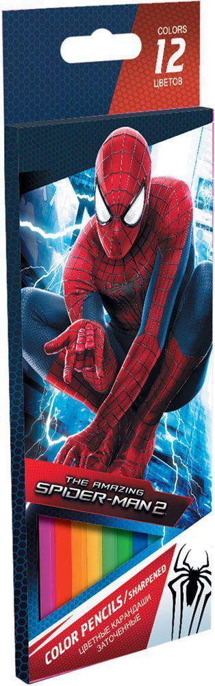 Набор цветных карандашей, 12 шт. Amazing Spider-man 2. Цветные карандаши длиной 17,8 см; заточенные; дерево - липа; цветной грифель 3 мм; карандаш в цвет грифеля с логотипом; логотип - тиснение золотом; Коробка из мелованного картона, раздвижная, европо72523WDНабор цветных карандашей 12 цветов. Яркие, насыщенные цвета, мягкое письмо. Прочный неломающийся грифель диаметром 3 мм. Высококачественная древесина. Двойная проклейка стержня специальным клеем предотвращает поломку грифеля при падении. Легко затачим