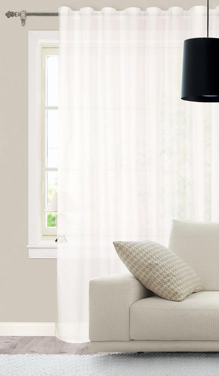 Штора готовая для гостиной Garden, на ленте, цвет: белый, размер 300*260 см. С 537227 V210503Элегантная тюлевая штора Garden выполнена из сетчатой ткани (полиэстера). Воздушная ткань и приглушенная гамма привлекут к себе внимание и органично впишутся в интерьер помещения. Эта штора будет долгое время радовать вас и ваших близких! Штора крепится на карниз при помощи ленты, которая поможет красиво и равномерно задрапировать верх.