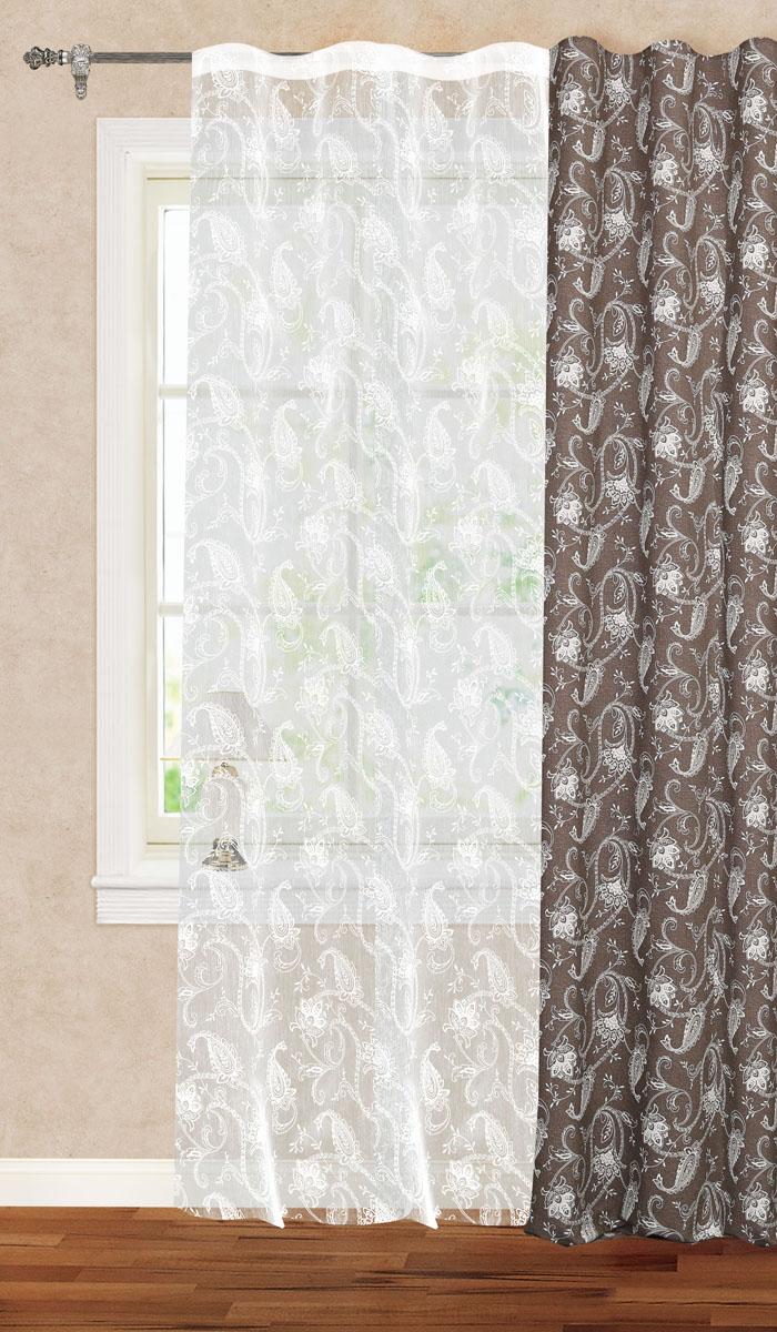 Штора готовая для гостиной Garden, на ленте, цвет: белый, размер 300*260 см. С 1181 - W1931 V1S03301004Готовая тюлевая штора для гостиной Garden выполнена из органзы (100% полиэстера) однотонного цвета с изящным цветочным принтом. Полупрозрачность материала, вуалевая текстура и нежная цветовая гамма привлекут к себе внимание и органично впишутся в интерьер комнаты.Изделие оснащено шторной лентой для красивой сборки. Штора Garden великолепно украсит любое окно.Стирка при температуре 30°С.