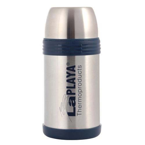 Термос LaPlaya Challenger, 1,2 л560024Термос LaPlaya Challenger идеально подходит для вторых блюд, супов и напитков. Легкий небьющийся корпус из высококачественной нержавеющей стали. Превосходная вакуумная изоляция для продолжительного сохранения горячего и холодного. Широкая герметичная комбинированная пробка позволяет использовать термос для первых и вторых блюд при полном открывании и для напитков - при вывинчивании внутренней части. Дополнительная пластиковая чашка в комплекте. Откидная ручка и съемный ремень позволяют удобно переносить термос.