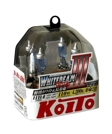 Лампа высокотемпературная Koito Whitebeam 9006 (HB4) 12V 55W (110W) -2 шт. комплект P0757WKOITO Лампа автомобильная P0757WЯпонская компания KOITO - мировой лидер по производству автомобильных ламп и оптики. Компания основана в 1915 году и в настоящее время входит в корпорацию TOYOTA GROUP и имеет представительства и совместные предприятия по всему миру. Продукция KOITO широко применяется не только для автомобилей, но и для железнодорожных подвижных составов, авиационного и морского транспорта. Компания KOITO выпускает все разновидности лампочек, начиная от ламп головного света и заканчивая подсветкой салона и приборов, для абсолютно всех моделей японских автомобилей и мотоциклов. Компания KOITO выпускает все разновидности ламп и предохранителей для всех моделей японских автомобилей, а также широкий ассортимент для европейских и американских автомобилей. В ассортименте KOITO есть как лампы стандартной комплектации, так и лампы особых серий, таких как VWHITE и WHITEBEAM. Лампы особых серий VWHITE и WHITEBEAM обеспечивают удвоенную яркость при стандартной мощности. Эти лампы соответствуют всем нормам и...