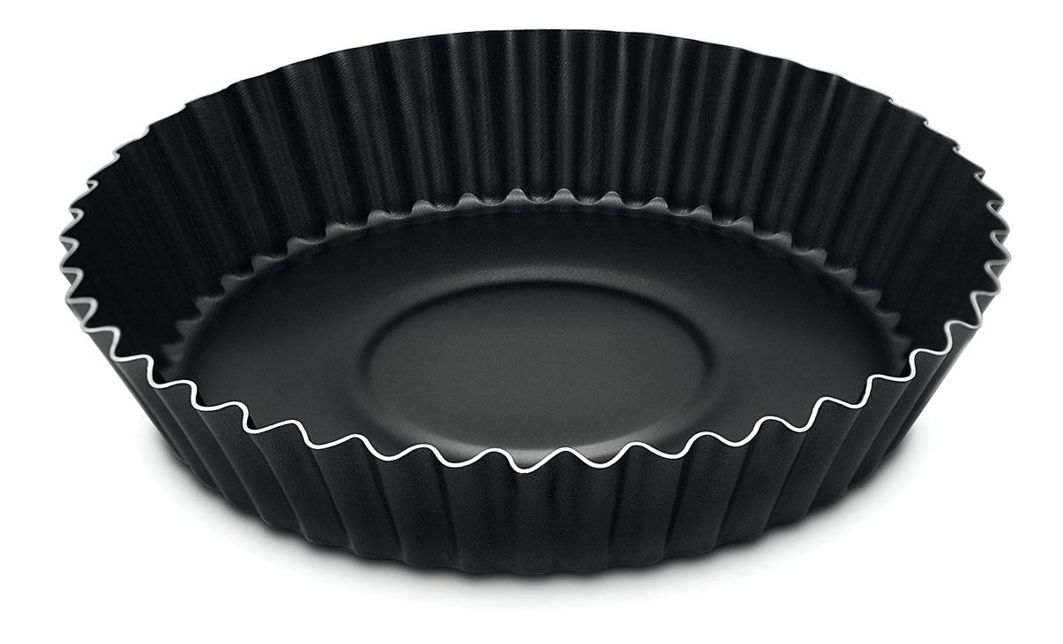 Форма для торта Tramontina, с антипригарным покрытием, круглая, диаметр 22 см94672Форма для торта Tramontina изготовлена из алюминия с эксклюзивным антипригарным покрытием Starflon. Покрытие абсолютно безвредно для здоровья человека и окружающей среды, так как не содержит вредной примеси PFOA. Антипригарные свойства покрытия позволяют готовить с минимальным количеством масла, тем самым сокращая количество жиров в рационе. Изделие имеет круглую форму с ребристыми стенками. Не использовать металлические лопатки.Подходит для использования в духовом шкафу. Можно мыть в посудомоечной машине. Высота стенок: 4,5 см.Диаметр основания: 18 см.