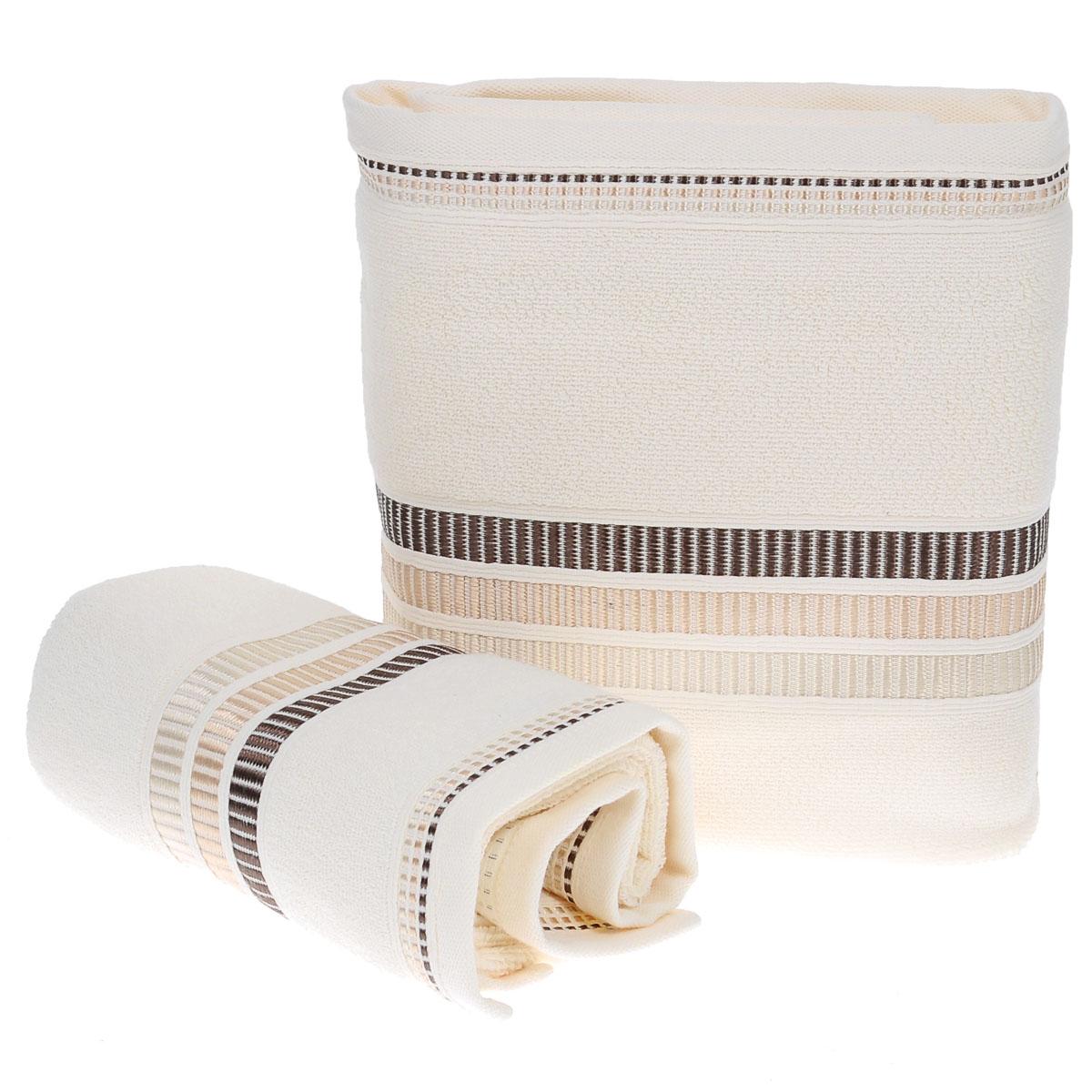 Набор махровых полотенец Coronet Пиано, цвет: молочный, 2 шт. Б-МП-2020-15-08-рБ-МП-2020-15-08-рПодарочный набор Coronet Пиано состоит из двух полотенец разного размера, выполненных из натуральной махровой ткани. Полотенца украшены изящным декоративным тиснением. Мягкие и уютные, они прекрасно впитывают влагу и легко стираются. Такой набор подарит вам мягкость и необыкновенный комфорт в использовании. Благодаря высокому качеству изготовления, полотенце будет радовать многие годы. Полотенца упакованы в подарочную коробку и станут приятным и полезным подарком вашим друзьям и близким. Комплектация: 2 шт. Плотность полотенец 550 г/м.