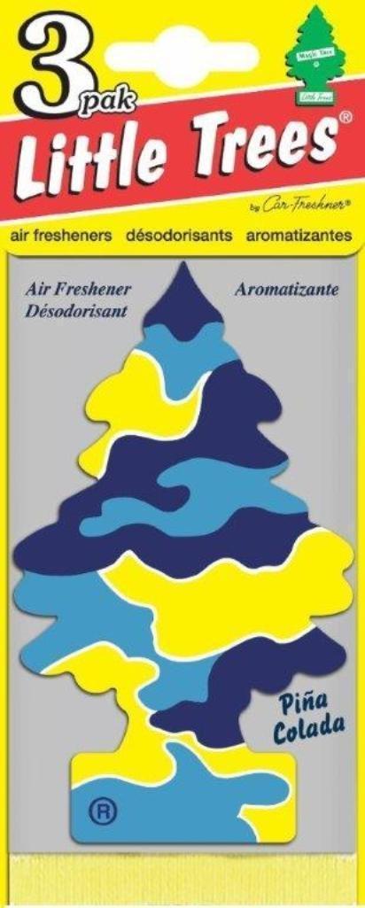 Набор ароматизаторов Car-Freshner Елочка Пина колада, 3 штU3S-32967Оригинальный ароматизатор сделан из высококапилярного качественного картона - что позволяет долго сохранять аромат и насыщенность красок изображения. Уникален по эффективности действия, насыщенности и стойкости запаха Повесьте ароматизатор в любом удобном месте - в салоне автомобиля, дома или в офисе - и получайте удовольствие! Характеристики: Материал: 100% спрессованная целлюлоза, полимеры, не токсичные отдушки. Размер упаковки: 19 см х 7,5 см х 1 см. Артикул: U3S-32005.
