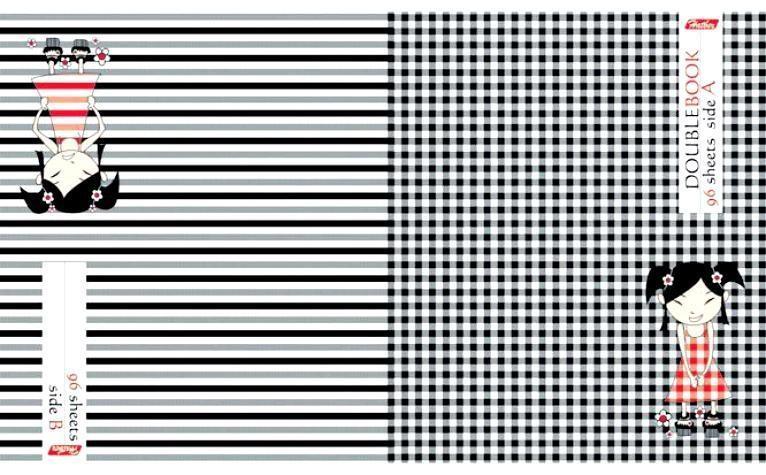 Тетрадь двойная 96л А5ф клетка на скобе-АНИМЕ-4606782057957Тетрадь двойная с обложками-перевертышами. Два дизайна обложки. 96 листов. Внутренний блок 60 гр/кв.м. Тип разметки: В клетку; тип бумаги: Шелковисто-матовая; формат: А5; обложка: картон; пол: унисекс; возраст: старшие классы; способ крепления: Скрепка; упаковка: Коробка картонная