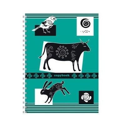 Полиграфика Тетрадь на спирали А5, 120л Контрастная открытка, 2 пантона, жесткий ламинат (глянцевый), рисунок: корова652-SBОтличная тетрадь подойдет как школьнику, так и в повседневной жизни. Тетрадь сделана из качественной бумаги. Обложку украшает отличный принт.