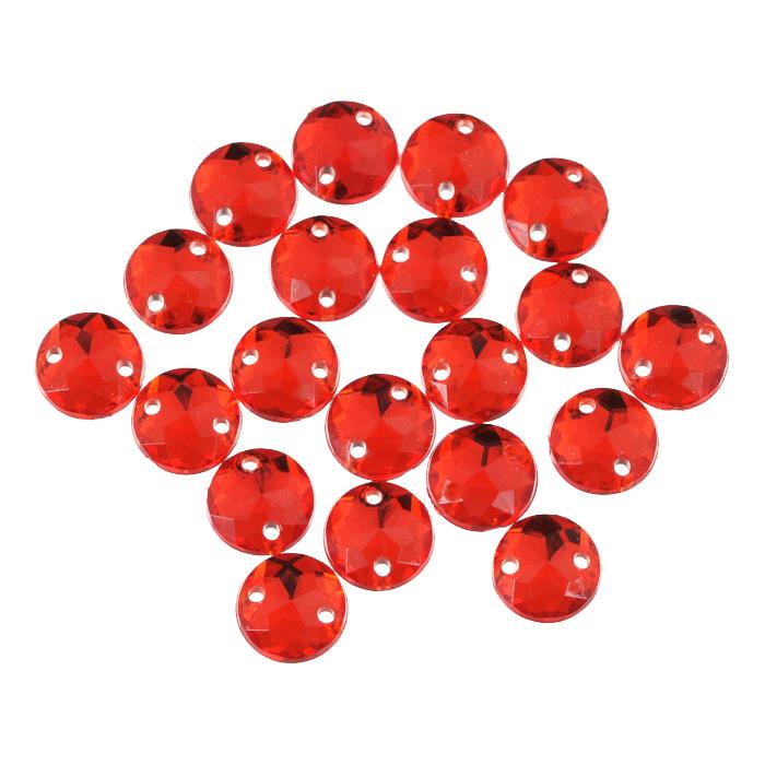 Стразы пришивные Астра, акриловые, круглые, цвет: красный (06), диаметр 8 мм, 20 шт. 7701644_06C0044108Набор страз Астра, изготовленный из акрила, позволит вам украсить одежду и аксессуары. Стразы оригинального и яркого дизайна выполнены в форме круга и оснащены отверстиям для пришивания. Украшение стразами поможет сделать любую вещь оригинальной и неповторимой.