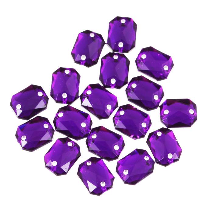 Стразы пришивные Астра, акриловые, прямоугольные, цвет: темный пурпур (22), 8 мм х 10 мм, 18 шт. 7701652_227701652_22 т.пурпурНабор страз Астра, изготовленный из акрила, позволит вам украсить одежду и аксессуары. Стразы оригинального и яркого дизайна выполнены в форме прямоугольника и оснащены отверстиям для пришивания. Украшение стразами поможет сделать любую вещь оригинальной и неповторимой.