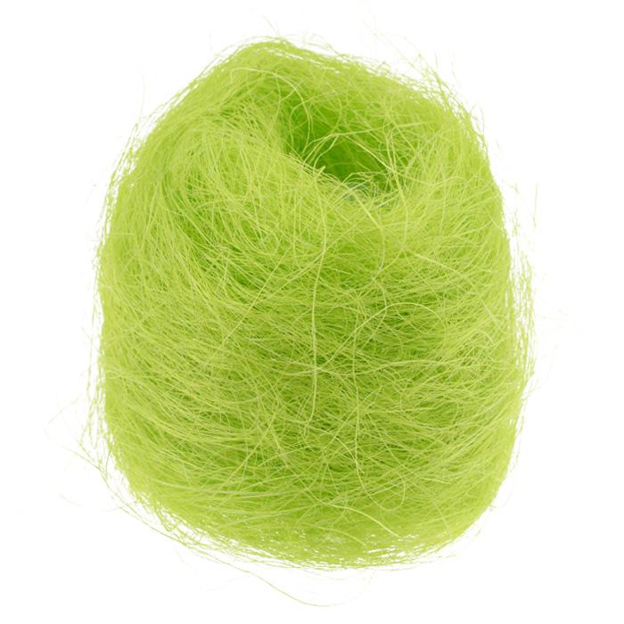 Сизаль Folia, цвет: салатовый (51), 50 г7708100_51Сизаль Folia является необыкновенным аксессуаром для флористики и упаковки подарков. Это тонкие, прочные волокна, которые изготовляют из листьев агавы. Сизаль окрашивается в различные цвета и затем из его волокон плетут декоративные веревки, украшают металлические каркасы для букетов, используют его в изготовлении корзин. В подарочной упаковке сизаль удачно используют в изготовлении оригинального оберточного материала. Также сизаль используют как наполнитель в коробках. Во многих флористических композициях сизаль создает легкое облако над букетом, придавая воздушность и свежесть цветам. В рождественских декорациях сизаль подчеркивает зимнее настроение коллекций. Такой материал можно комбинировать с различными аксессуарами, как с природными - веточки, шишки, скорлупа, кора, перья так и с искусственными - стразы, бисер, бусины. Уникальная токая структура волокон позволят создавать новые формы.