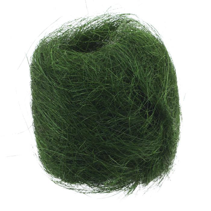 Сизаль Folia, цвет: зеленый (58), 50 г09840-20.000.00Сизаль Folia является необыкновенным аксессуаром для флористики и упаковки подарков. Это тонкие, прочные волокна, которые изготовляют из листьев агавы. Сизаль окрашивается в различные цвета и затем из его волокон плетут декоративные веревки, украшают металлические каркасы для букетов, используют его в изготовлении корзин. В подарочной упаковке сизаль удачно используют в изготовлении оригинального оберточного материала. Также сизаль используют как наполнитель в коробках. Во многих флористических композициях сизаль создает легкое облако над букетом, придавая воздушность и свежесть цветам. В рождественских декорациях сизаль подчеркивает зимнее настроение коллекций. Такой материал можно комбинировать с различными аксессуарами, как с природными - веточки, шишки, скорлупа, кора, перья так и с искусственными - стразы, бисер, бусины. Уникальная токая структура волокон позволят создавать новые формы.