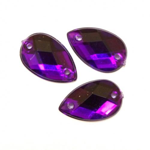 Стразы пришивные Астра, цвет: пурпурный (22), 18 х 13 мм, 6 шт. 7701656RSP-202SНабор страз Астра, изготовленный из акрила, позволит вам украсить одежду и аксессуары. Стразы оригинального и яркого дизайна в виде капель оснащены отверстиями для пришивания.Украшение стразами поможет сделать любую вещь оригинальной и неповторимой. Размер: 18 х 13 мм.