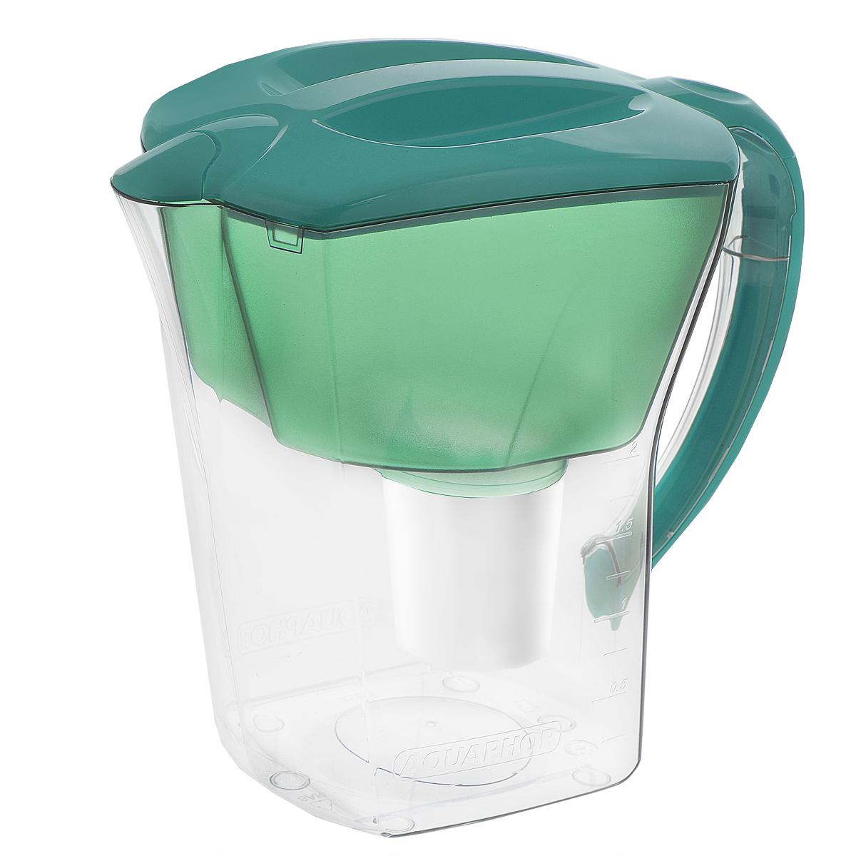 Фильтр-кувшин для воды Аквафор Премиум, цвет: бирюзовый, со сменным фильтром, 3,8 лкувшин Аквафор Премиум (бирюза)