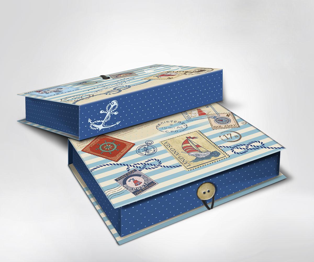 Подарочная коробка Пляж, 20 см х 14 см х 6 см36502Подарочная коробка Пляж выполнена из плотного картона. Крышка оформлена ярким изображением почтовых марок с морской тематикой. Коробка закрывается на пуговицу. Подарочная коробка - это наилучшее решение, если вы хотите порадовать ваших близких и создать праздничное настроение, ведь подарок, преподнесенный в оригинальной упаковке, всегда будет самым эффектным и запоминающимся. Окружите близких людей вниманием и заботой, вручив презент в нарядном, праздничном оформлении.
