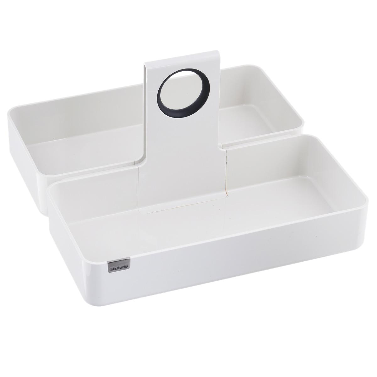 Кухонная подставка-органайзер Brabantia, цвет: белый, 34,5 х 34,5 см423529Кухонная подставка-органайзер Brabantia, выполненная из высококачественного пластика, подойдет для всех распространенных размеров кухонных ящиков и шкафов. Модульная конструкция позволяет экономить и эффективно организовывать пространство. Органайзеры имеют стильный дизайн и одинаково хорошо будут смотреться на обеденном столе или рабочей поверхности. Идеально подходят для хранения вещей в оригинальной упаковке (рис, макаронные изделия и т.д.). Противоскользящие накладки на дне подставки предупреждают перемещение подставки в ящике. Может использоваться с корзинкой для хлеба. Легко чистится благодаря гладким формам. Размер подставки-органайзера (ДхШхВ): 34,5 см х 34,5 см х 20 см.
