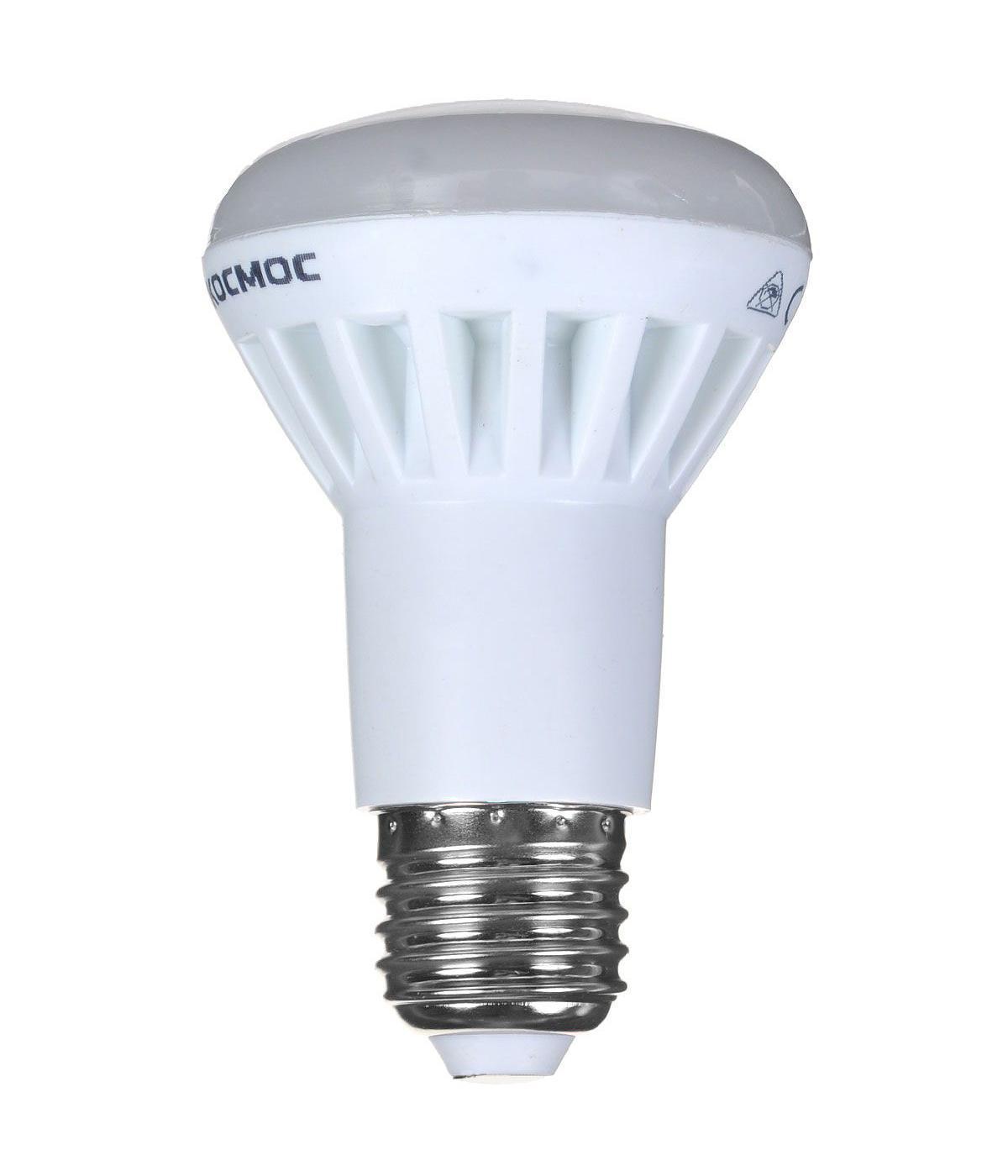 Светодиодная лампа Kosmos, теплый свет, цоколь E27, 7W, 220V. Lksm_LED7wR63E2730Lksm_LED7wR63E2730Светодиодная лампа Kosmos, теплый свет, цоколь E27, 7W, 220V. Lksm_LED7wR63E2730 - это эффективная замена неэкономичных источников света без каких-либо трудностей. Эту лампочку можно использовать для декоративного и основного освещения.