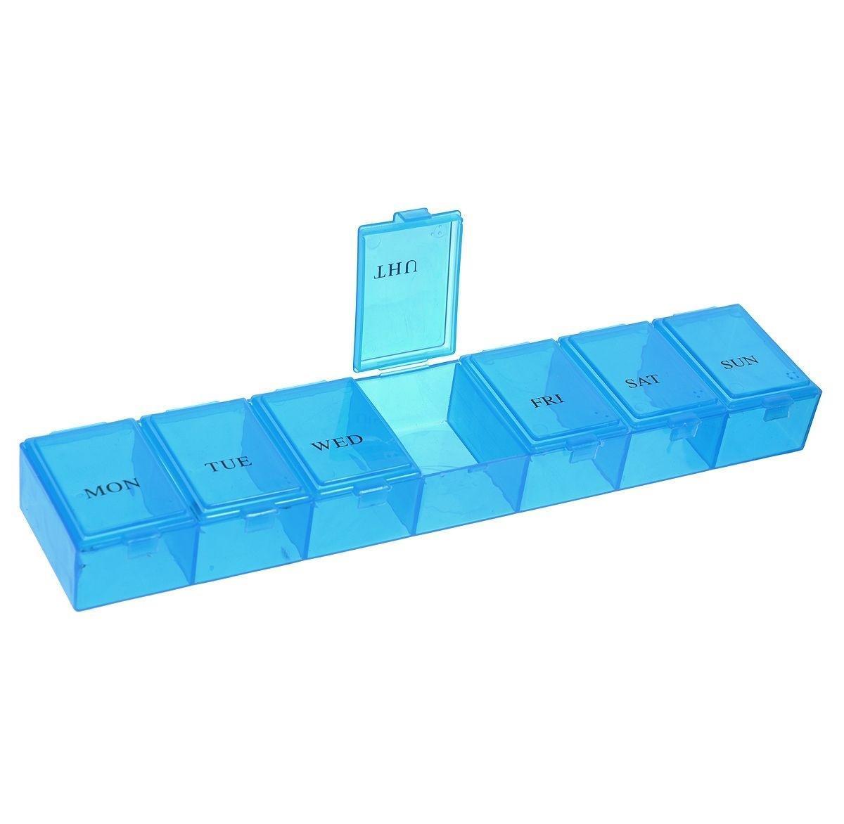 Таблетница Hobby & Pro, 23 х 4,7 х 3 см. 7704286Z-0307Контейнер для таблеток с 7 отделениями на каждый день недели.