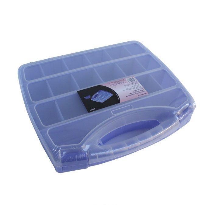 930524 Органайзер для хранения с 20 регулируемыми отделениями, 30.5*25.5*6см Hobby&Pro7706806Контейнер для мелочей изготовлен из прозрачного пластика, что позволяет видеть содержимое. Внутри содержится 20 ячеек для хранения мелких принадлежностей. Крышка плотно закрывается. Такой контейнер поможет держать вещи в порядке. Идеально подходит для хранения принадлежностей для шитья и других мелких бытовых предметов.
