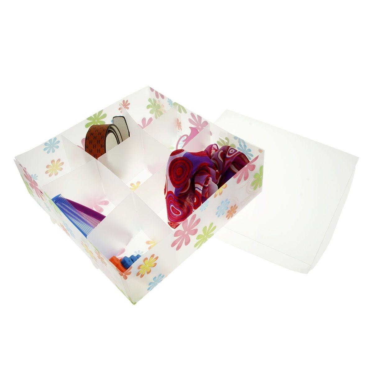короб для хранения 30*30*10, 9 ячеек, с крышкой, цветочки 608991UP210DFКоробка для мелочей изготовлена из прочного пластика. Предназначена для хранения мелких бытовых мелочей, принадлежностей для шитья и т.д. Коробка оснащена плотно закрывающейся крышкой, которая предотвратит просыпание и потерю мелких вещиц.Коробка для мелочей сохранит ваши вещи в порядке. Материал: Пластик
