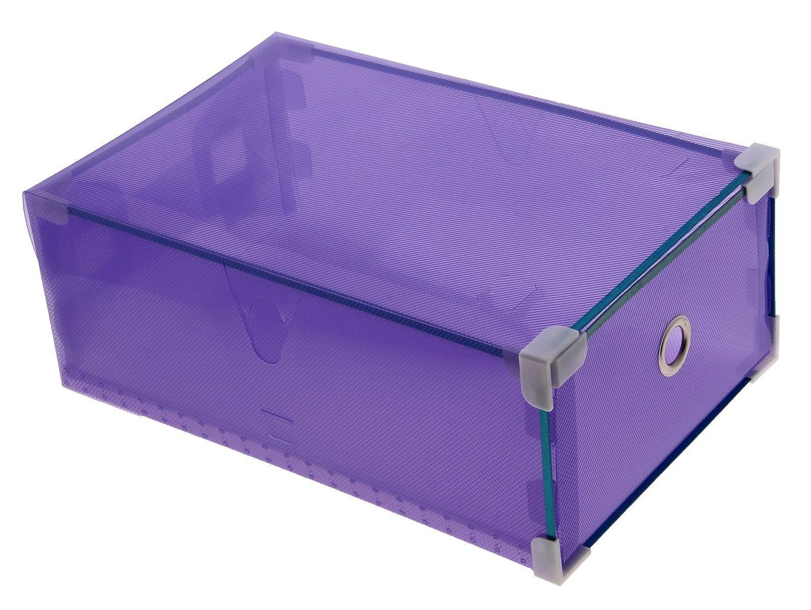 короб для хранения выдвижной 34*22*12см сиреневый 709970