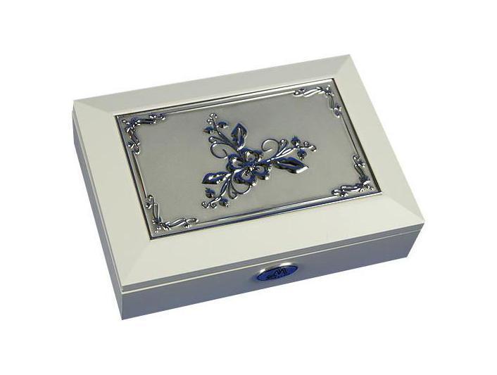 Шкатулка ювелирная Moretto, цвет: белый, 18 см х 13 см х 5 см. 39875 салатник кубаньфарфор роза кавказа 18 5 х 18 5 см