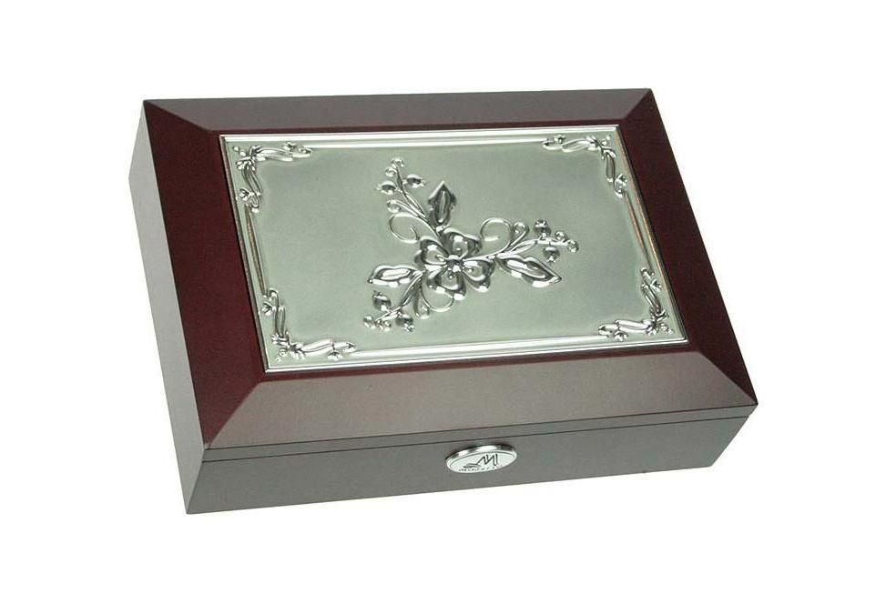 Шкатулка ювелирная Moretto, цвет: темно-коричневый, 18 х 13 х 5 см 39596 салатник кубаньфарфор роза кавказа 18 5 х 18 5 см