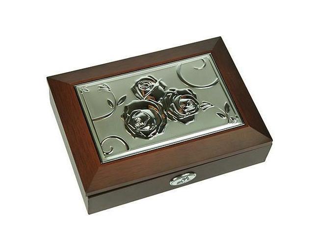 Шкатулка ювелирная Moretto, цвет: коричневый, 18 х 13 х 5 см 39833 салатник кубаньфарфор роза кавказа 18 5 х 18 5 см