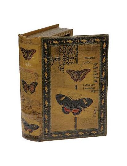 Шкатулка-фолиант Бабочки 21*13*5см184119Оригинальная шкатулка Русские подарки Бабочки 184119 оформлена в виде старинной книги. Хранить в ней можно бижутерию, украшения и многое другое. Эта модель придаст любому интерьеру изысканность и будет великолепным подарком. Материал: MDF, кож. зам; цвет: желтый