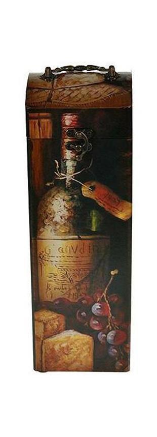 Шкатулка Сундучок под бутылку 11*11*33см34759Шкатулка Русские подарки Сундучок 34759 предназначена для хранения бутылок с вином. Сочетание оригинального дизайна и функциональности делает такую вещь практичным, стильным подарком и предметом гордости ее обладателя. Данная модель надежно закрывается на металлический замок. Она не оставит равнодушным ни одного любителя оригинальных вещей.