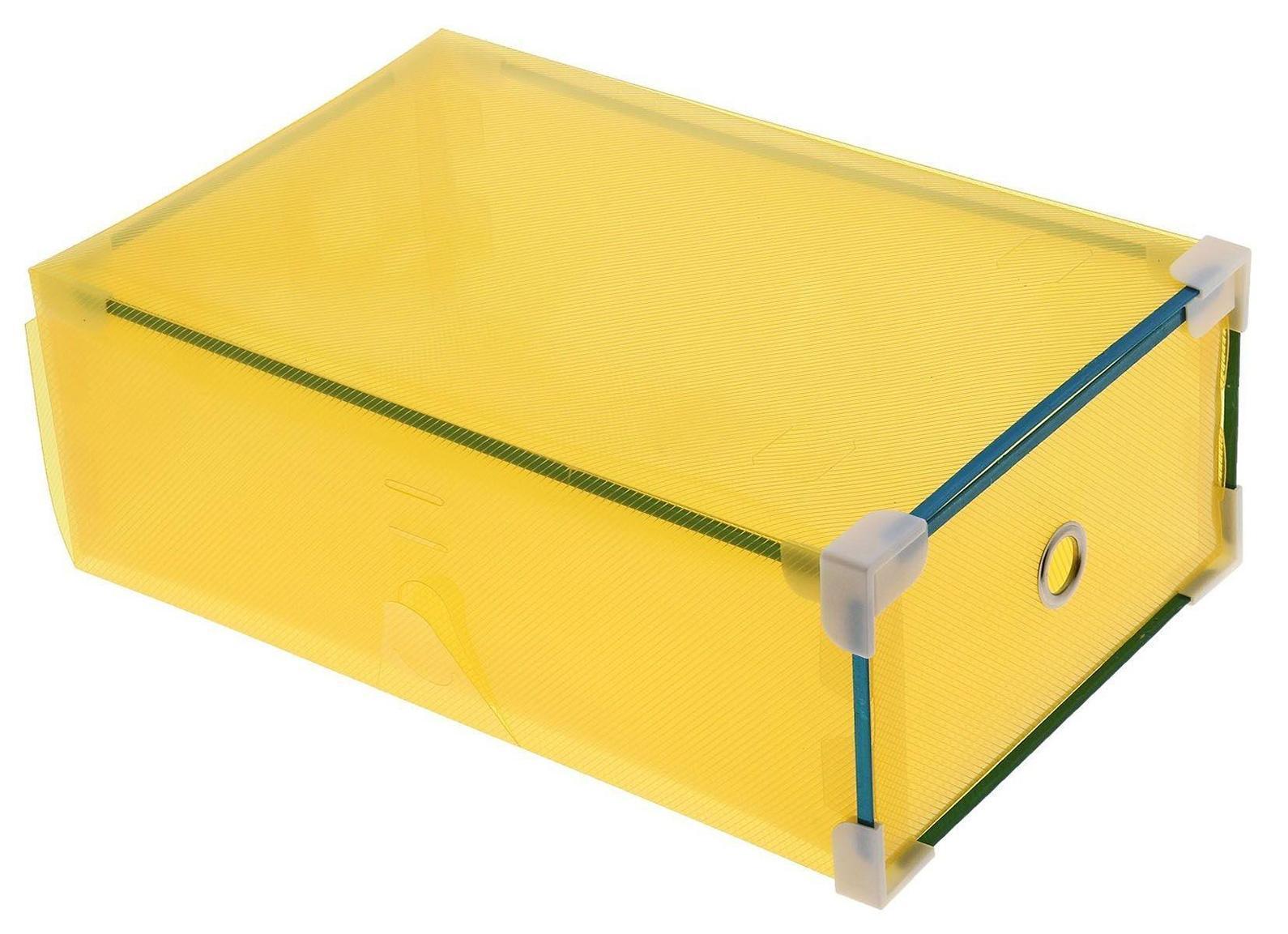 короб для хранения выдвижной 31*19,5*10,5см желтый 709963
